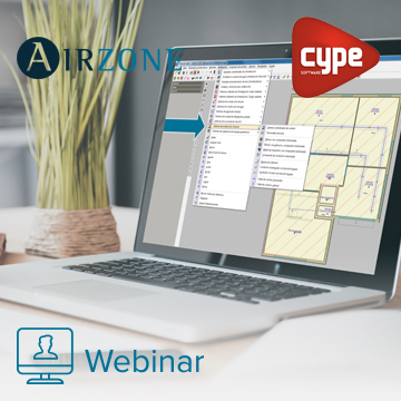 Solución Airzone en CYPECAD MEP, y generación de modelos BIM con el Plugin Open BIM de Revit