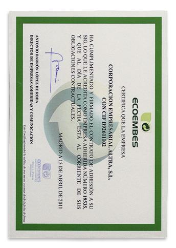 Certificado Adhesion Español