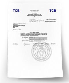 Certificado Airzone US FCC