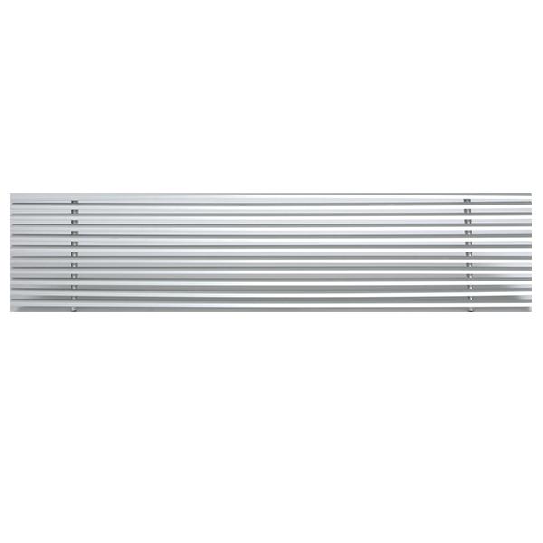Rejilla lama lineal fija 15º sin marco para techos modulares