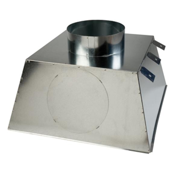 Plénum sin aislar difusores para techos modulares con conexión a conducto circular