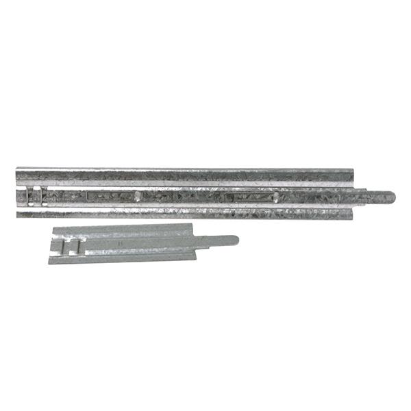 Larguero de chapa galvanizada para marco de montaje de rejillas