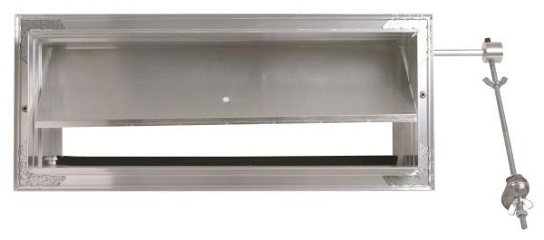 Compuerta de sobrepresión (bypass) rectangular conducido