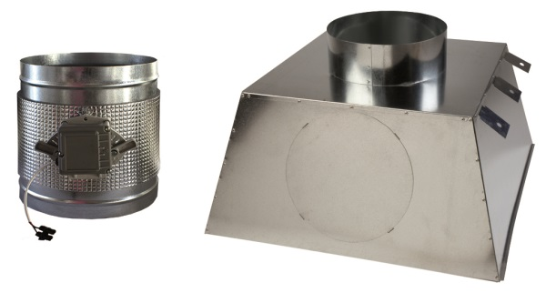 Plénum aislado motorizado para difusores rotacionales