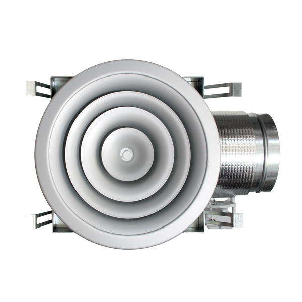 Difusor circular con plénum aislado motorizado