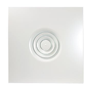 Difusor circular integrado en placa para techos modulares