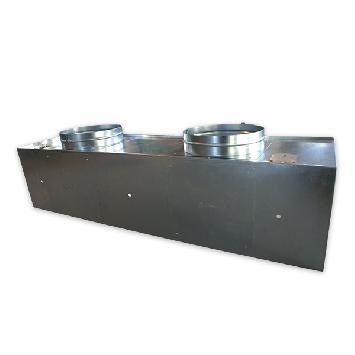 Plénum sin aislar difusores rotacionales rectangulares