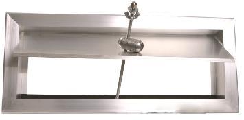 Compuerta de sobrepresión (bypass) rectangular