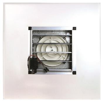 Difusor circular de placa motorizado
