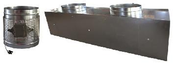 Plénum aislado motorizado para difusores rectangulares